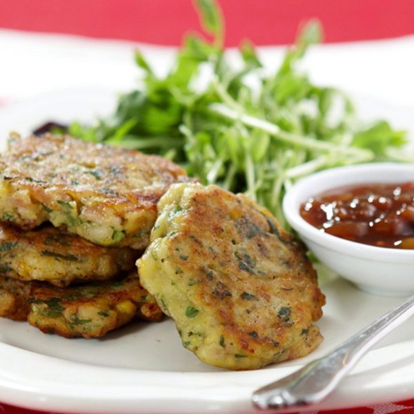Corn Fritters with Bacon